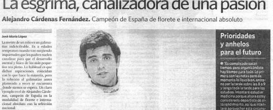 Reportaje en prensa para Alejandro Cárdenas
