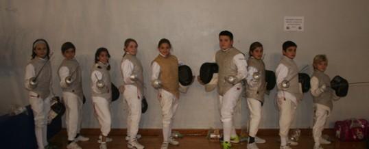 Once oros para menores de 10 y 12 años en Chiclana y paticipación en el nacional de sable